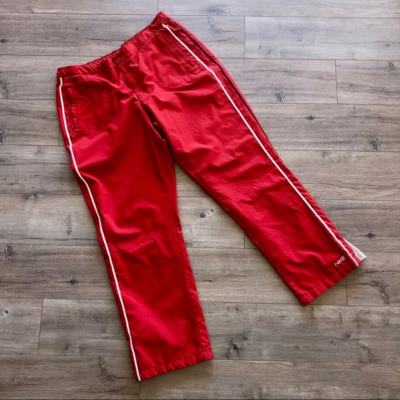 Cumplimiento a Reunión Llevar  Nike Pants & Jumpsuits | Womens Red Nike Track Pants | Poshmark